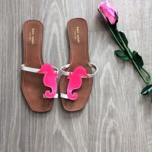 Kate Spade sandals hot pink sea horses size 9